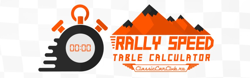 RALLY Speed Table Calculator TSD, regularity rally, historic rally